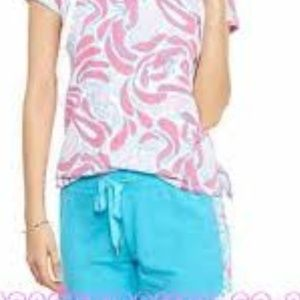 Crown & Ivy Tropical Blue shorts in XL